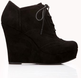 Forever 21 Fresh Brogue Booties - Lyst