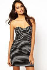 Forever Unique Pepper Stripe Strapless Dress - Lyst