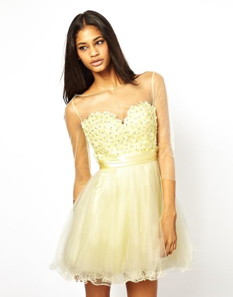 Unique Yellow Prom Dresses 4
