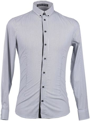 Frankie Morello Long Sleeve Shirt - Lyst