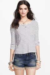 Free People Garvey Stripe Cotton Henley - Lyst