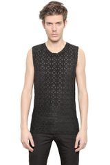 Gareth Pugh Stretch Cotton Tank Top - Lyst