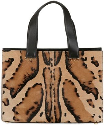 Giorgio Armani Mini Printed Ponyskin Top Handle Bag - Lyst