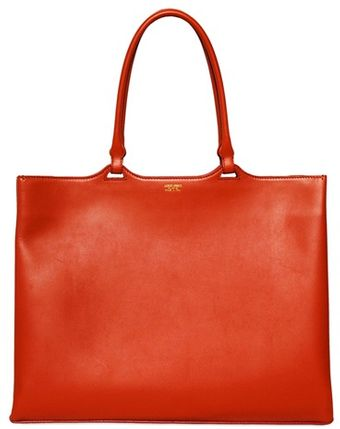 Giorgio Armani Brushed Leather Tote Bag - Lyst
