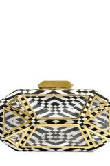 Giuseppe Zanotti Optical Silk Satin Clutch - Lyst