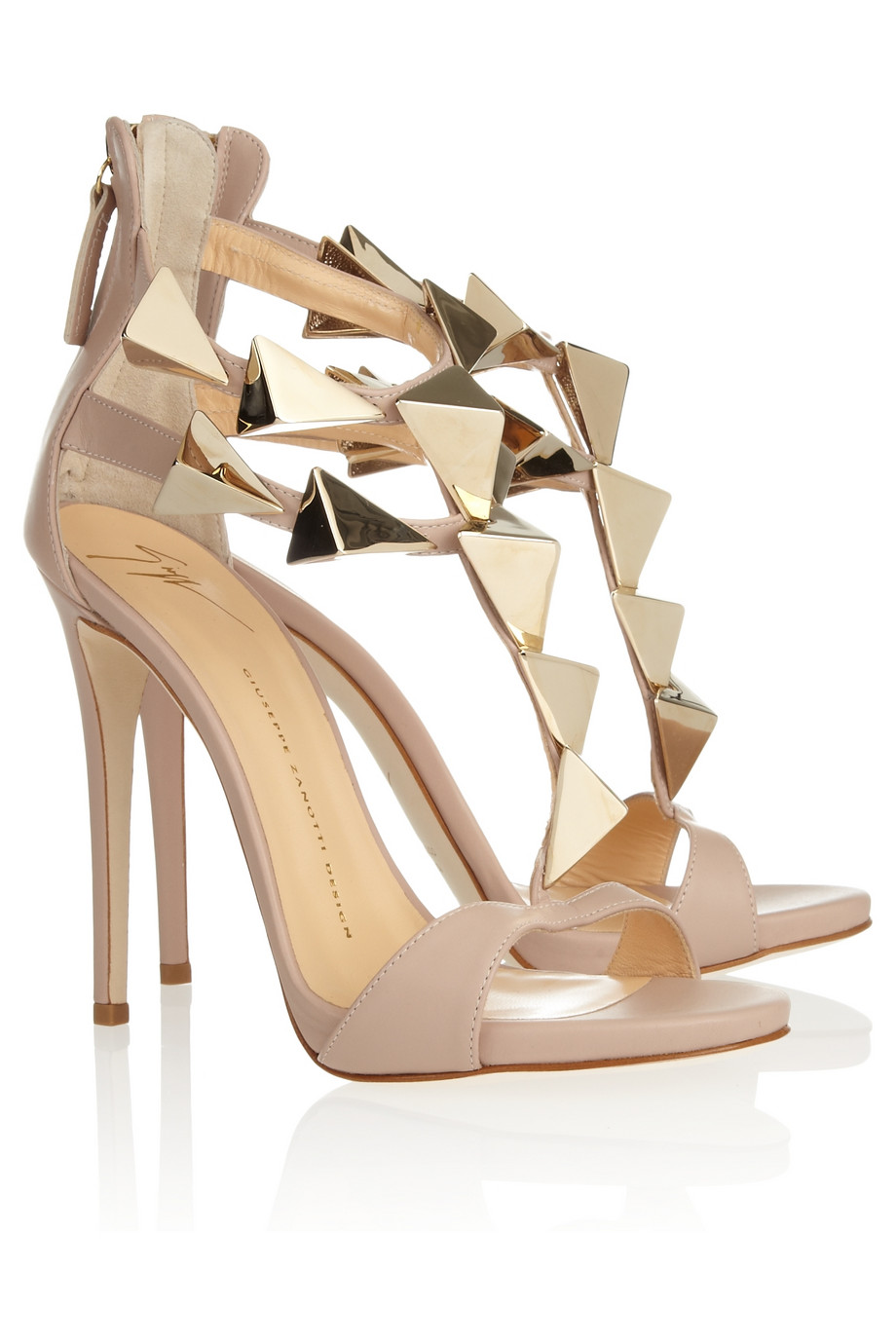Where To Buy Giuseppe Zanotti Sandals - Shoes Giuseppe Zanotti Studded Leather Sandals Blush