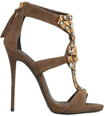 Giuseppe Zanotti 120mm Katun Jewel Leather Sandals - Lyst