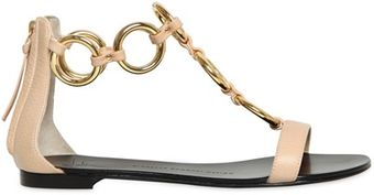 Giuseppe Zanotti 10mm Chained Leather Flats - Lyst