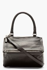Givenchy Black Leather Pandora Shoulder Bag - Lyst