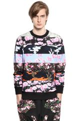 Givenchy Cotton Fleece Cuban Fit Sweatshirt - Lyst