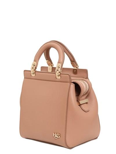 Lyst Givenchy Mini Hdg Matt Leather Shoulder Bag In Pink