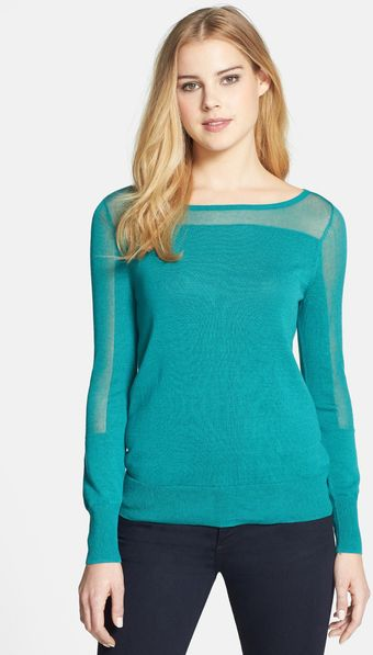 Halogen Slash Neck Sweater - Lyst
