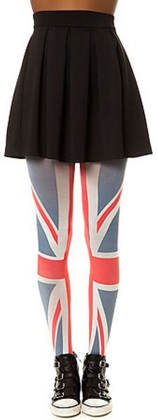 House Of Holland The Union Jack Tights - Lyst