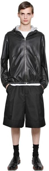 Jil Sander Reversible Nappa Leather Bomber Jacket - Lyst