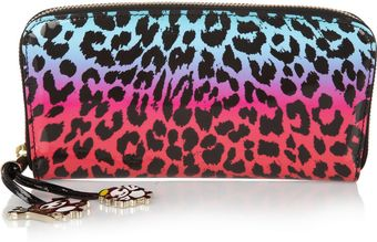 Jimmy Choo Rob Pruitt Filipa Animalprint Patentleather Wallet - Lyst