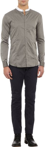 John Varvatos Doublelayer Collar Striped Shirt - Lyst