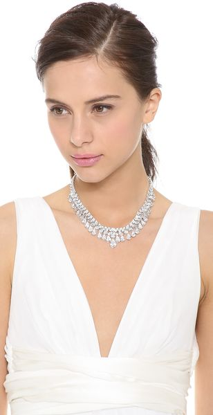 Kenneth Jay Lane Multi Grad Pear Cz Necklace - Lyst