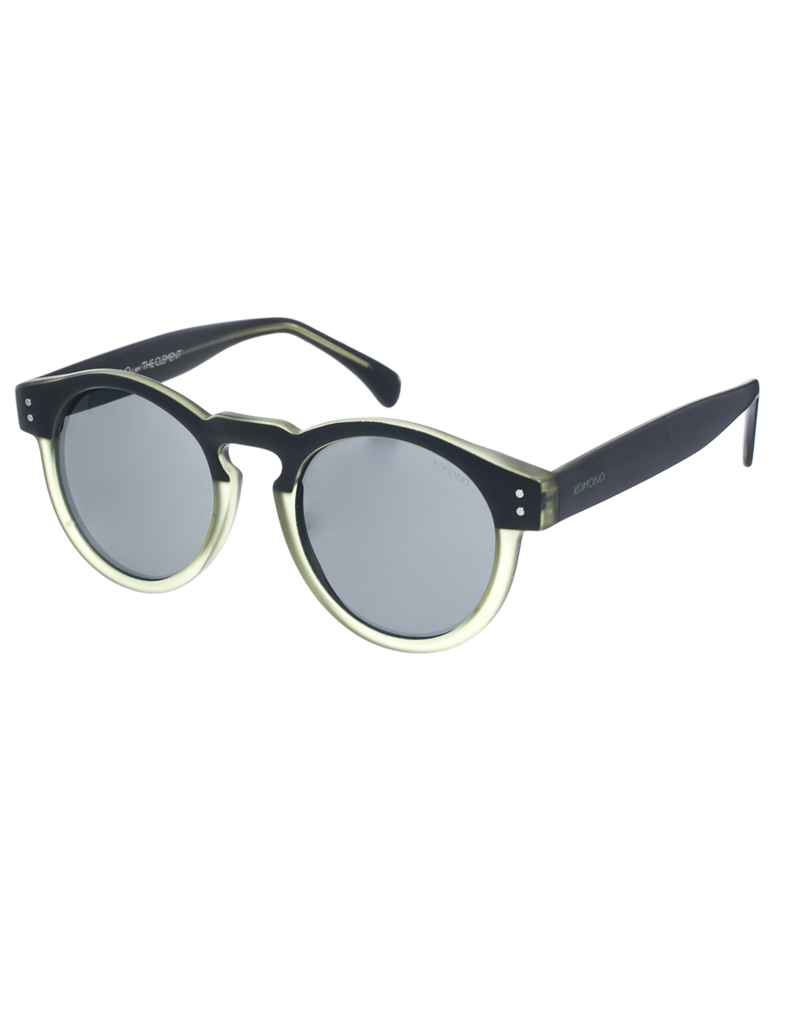 Komono Clement Round Sunglasses  komono clement round sunglasses in black for men lyst