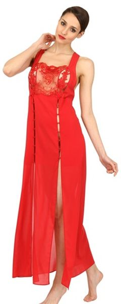 La Perla Lace and Silk Georgette Gown - Lyst
