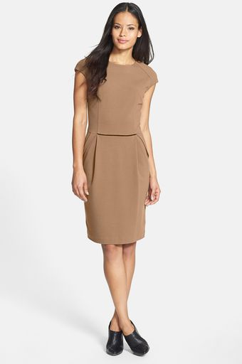 Lafayette 148 New York Back Zip Sheath Dress - Lyst