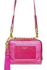 Lanvin Mini Padam Chain Python Shoulder Bag - Lyst