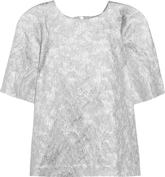 Lulu & Co Metallic Brocade Top - Lyst