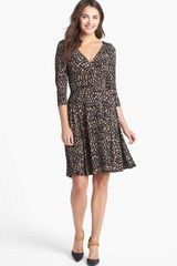 Maggy London Print Jersey Fit Flare Dress - Lyst
