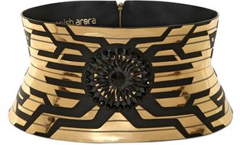 Manish Arora 140mm Laser Cut Leather High Waist Belt - Lyst