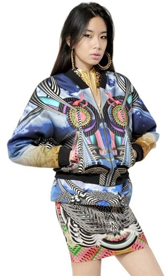 Manish Arora Printed Cotton Blend Bomber Jacket - Lyst