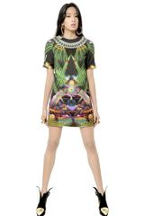Manish Arora Printed Cotton Satin Dress - Lyst