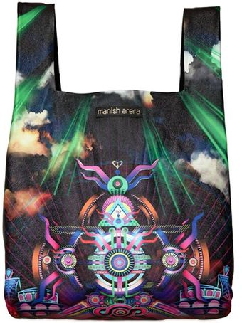Manish Arora Printed Grained Leather Top Handle Bag - Lyst