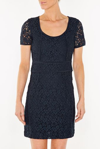 Marc By Marc Jacobs Luna Lace Short Sleeved Dress - Lyst