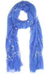 Marc Jacobs Floralprint Cotton and Silkblend Scarf - Lyst