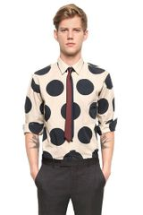 Marni Cotton Poplin Polka Dots Shirt - Lyst