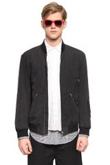 Marni Cotton Linen Bomber Jacket - Lyst