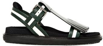 Marni 40mm Fringed Calfskin Sandals - Lyst
