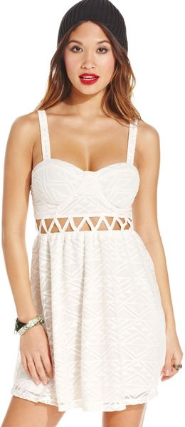 Material Girl  Knit Cutout Bustier Dress - Lyst
