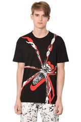 McQ by Alexander McQueen Cotton Jersey Spider T-shirt - Lyst