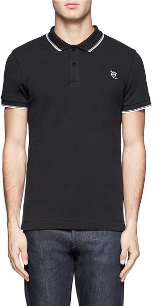 McQ by Alexander McQueen Cotton Piqué Polo Shirt - Lyst