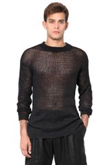 McQ by Alexander McQueen Waxed Cotton Knit Sweater - Lyst