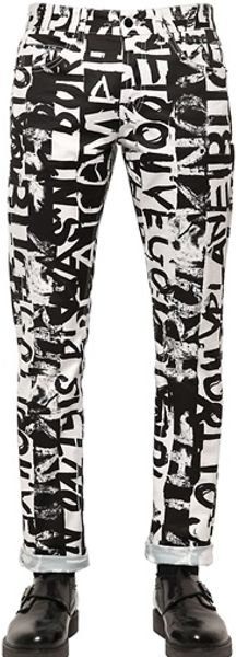 McQ by Alexander McQueen Graffiti Stretch Denim Jeans - Lyst