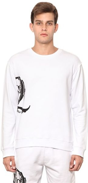 McQ by Alexander McQueen Cotton Fleece Logo Sweatshirt - Lyst