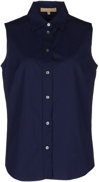Michael Kors Sleeveless Shirt - Lyst