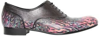 Miharayasuhiro Printed Leather Oxford Laceup Shoes - Lyst