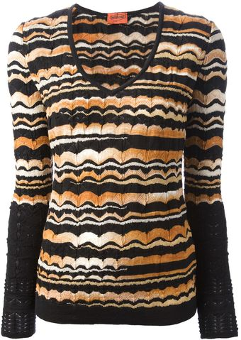 Missoni V-Neck Sweater - Lyst