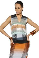 Missoni Beaded Viscose Fringed Top - Lyst
