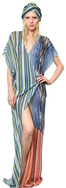 Missoni Patchwork Knitted Kaftan - Lyst