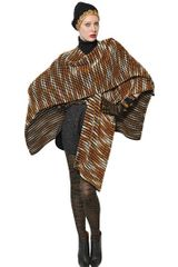 Missoni Wool Cashmere Knit Cape Shawl - Lyst