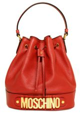 Moschino Rosella Grained Leather Top Handle - Lyst