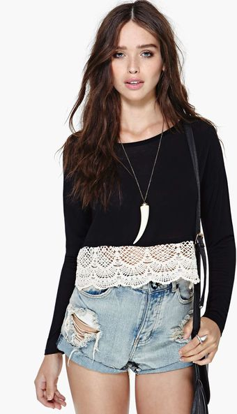 Nasty Gal Del Carmen Crop Top - Lyst